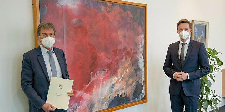 Start of second term for University President Manfred Schmitt on 1 March, 2021