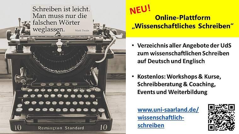 New central platform at the UdS concerning academic writing